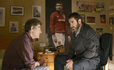 "Eric e Cantona discutem em ""À procura de Eric"""