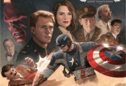 Poster vintage do filme em homenagem à capa da primeira edição do heroi