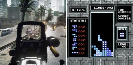 Tetris e Battlefield 3 são opostos?