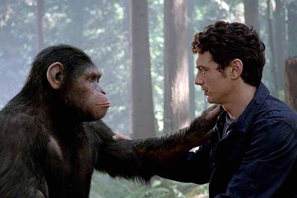 Cesar e Will Rodman em Planeta dos Macacos: a Origem